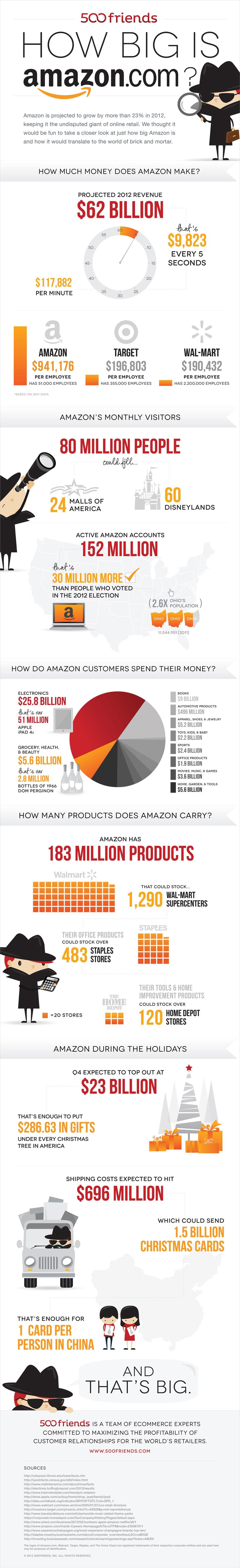 How big is amazon infographic