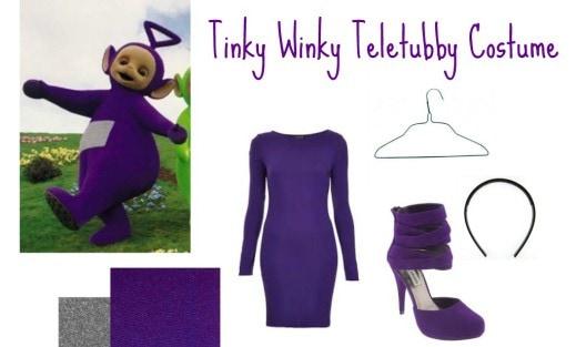 Hallo tinky winky costume e