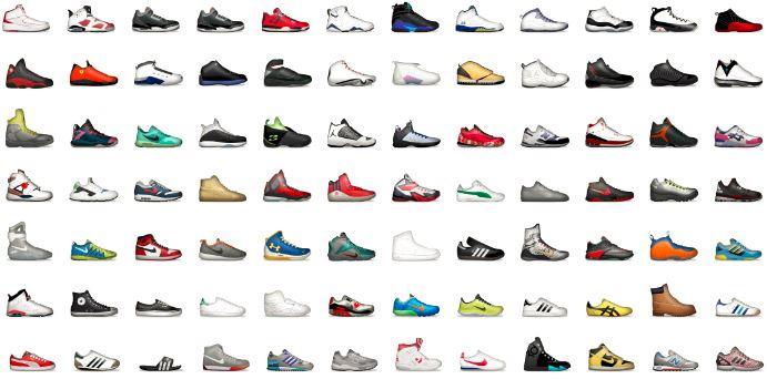Foot locker shoemoji