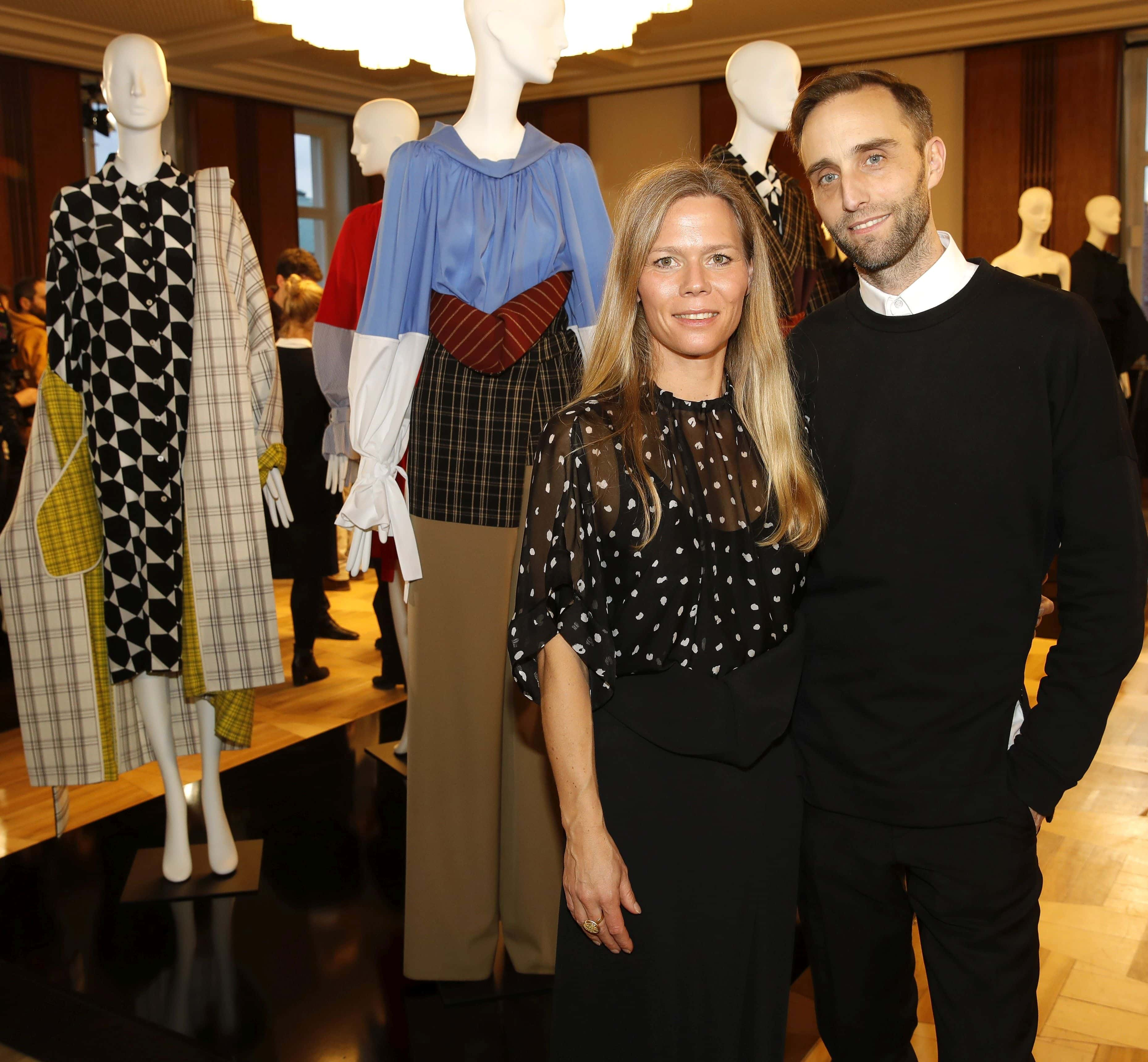 Antonia Goy and Björn Kubeja of Working Title attend Vogue Salon during 'Der Berliner Salon' AW 18/19 at Kronprinzenpalais on January 16, 2018 in Berlin, Germany.