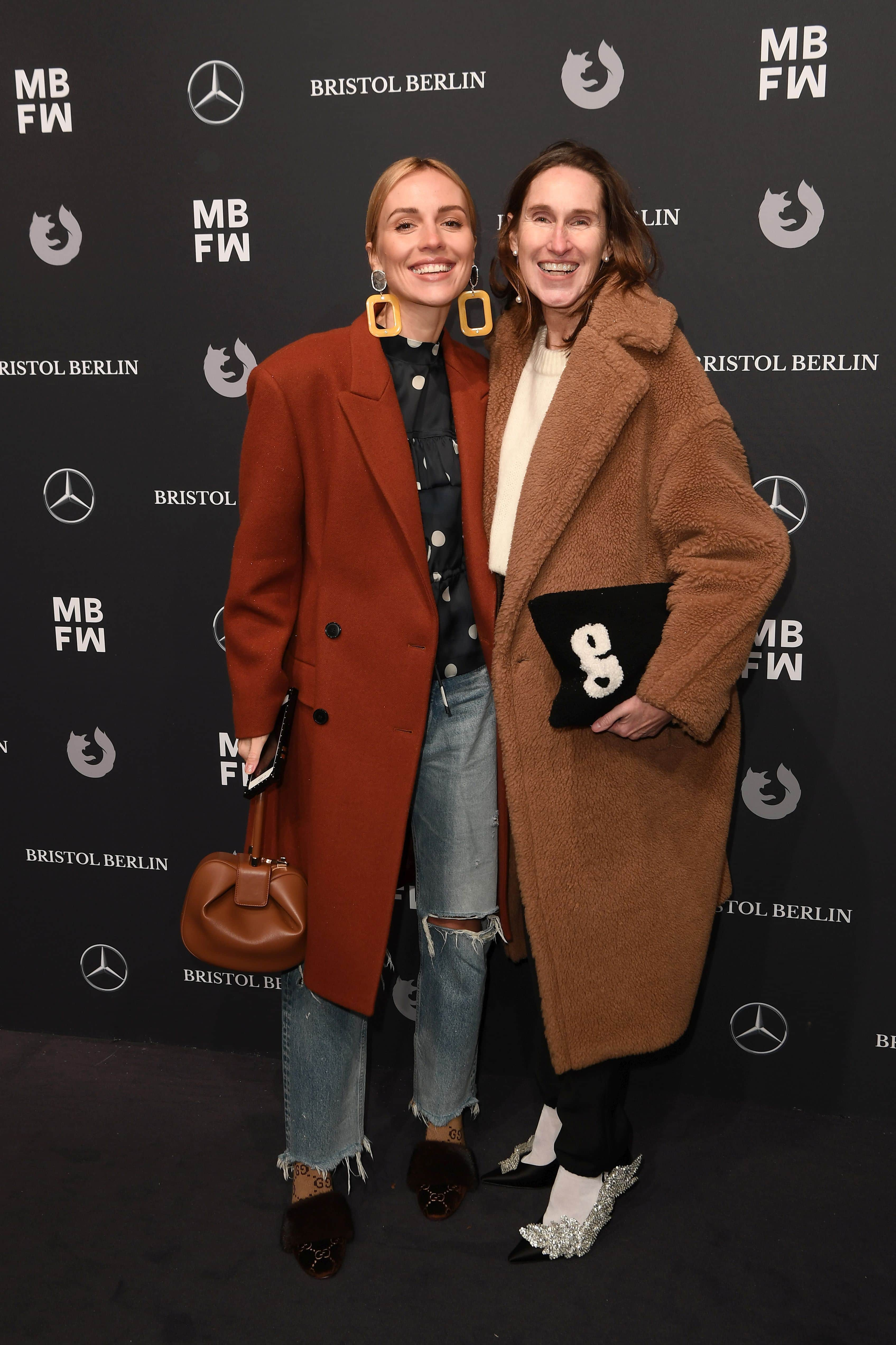 BERLIN, GERMANY - JANUARY 15: Annette Weber and guest attends the Dawid Tomaszewski show during the MBFW Berlin January 2018 at ewerk on January 15, 2018 in Berlin, Germany. (Photo by Matthias Nareyek/Getty Images for MBFW) *** Local Caption *** Annette Weber